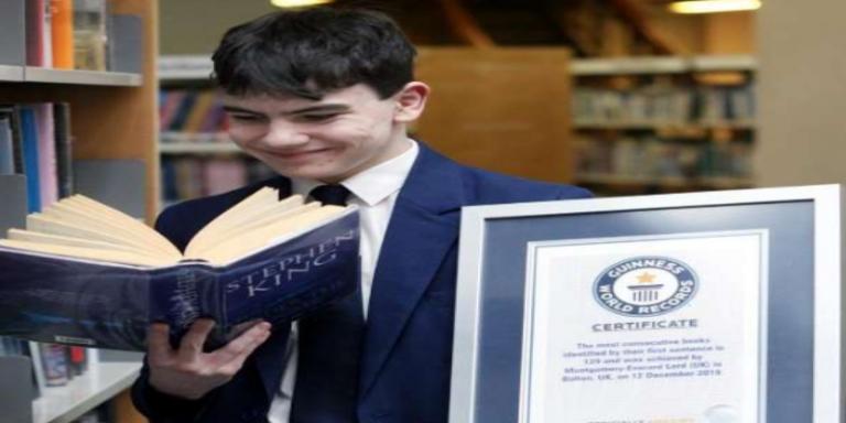14 साल का लड़का, किताब की पहली लाइन पढ़  के किताब की बारे में डिटेल्स बता देता है