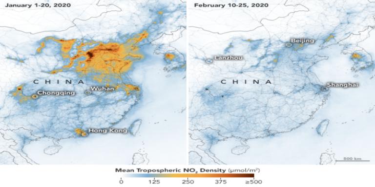 कोरोना वायरस के कहर के बीच प्रदूषण के संबंध में चीन के लिए एक अच्छी खबर