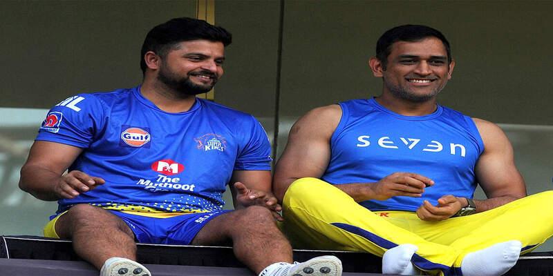 महेंद्र सिंह धौनी के साथ सुरेश रैना