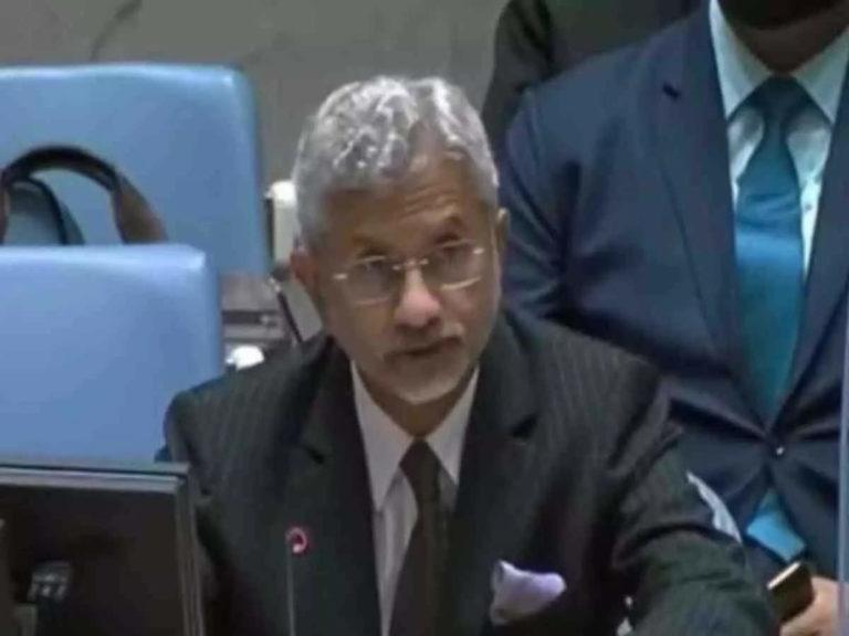 संयुक्त राष्ट्र सुरक्षा परिषद में विदेश मंत्री जयशंकर बोले- आतंकियों को पाकिस्तान का समर्थन, लश्कर-जैश जैसे आतंकी संगठन बेखौफ अपनी गतिविधियों को अंजाम देते हैं
