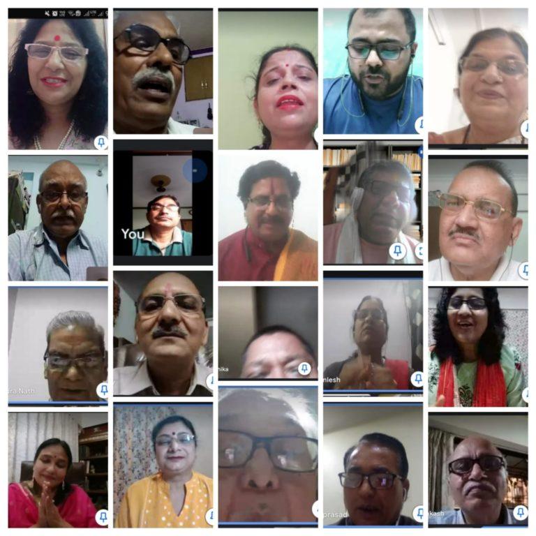 अलका अरोड़ा और उमेश प्रभाकर ने सजाया हृदयांगन संस्था  का  कवि सम्मेलन